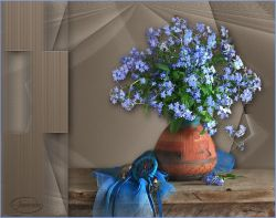 Les 32 – Blue flowers