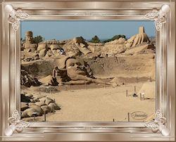 Salvatore Dali in the sand